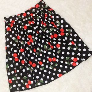 Grace Karin Retro Look Pleated High Waist Skirt